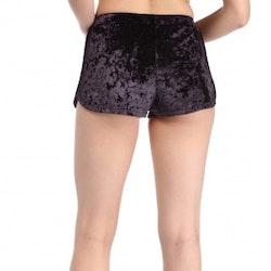 Mrs. Velvet Shorts Crushed Black/Purple