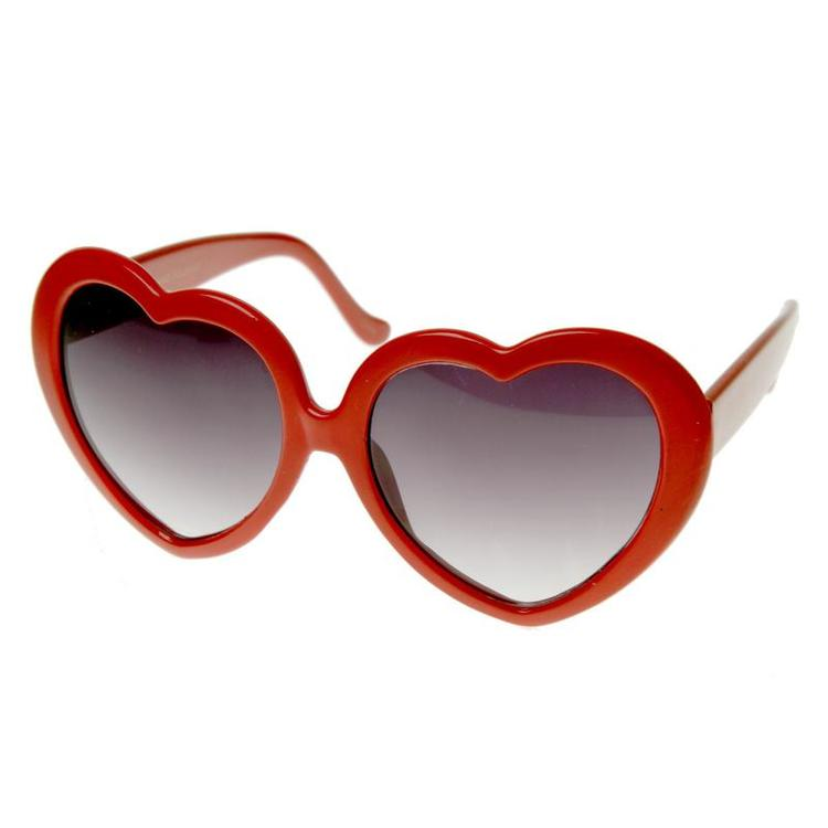Heart Sunglasses Red