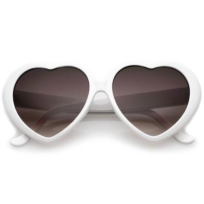 Heart Sunglasses White