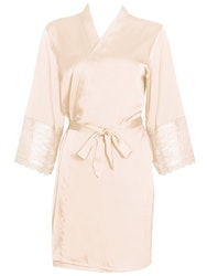 Alia Robe With Lace Beige