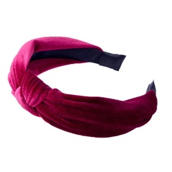 Velvet Hairband With Knot Red