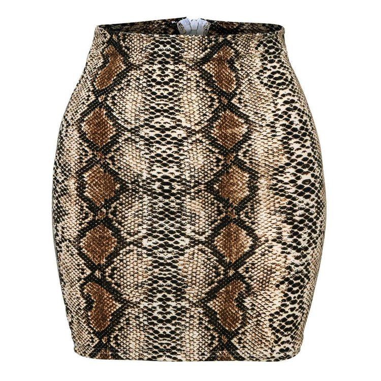 Snakeprint Skirt