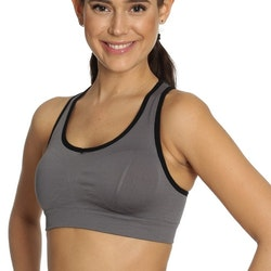 Seamless Sports Bra Grey