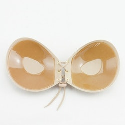 Self-adhesive Bra With Lacing Beige