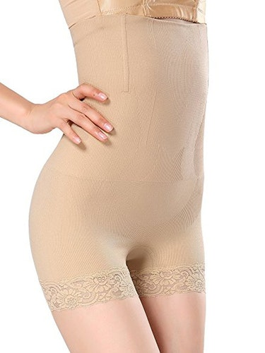 Steelboned Buttshaper Lång Beige