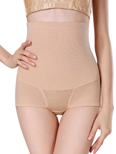 Striped Highwaisted Shaper Beige