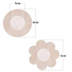 Nipple Cover Stickers Nude 2 Pair Round