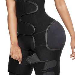 Waist and legs Neoprene Waisttrainer Black