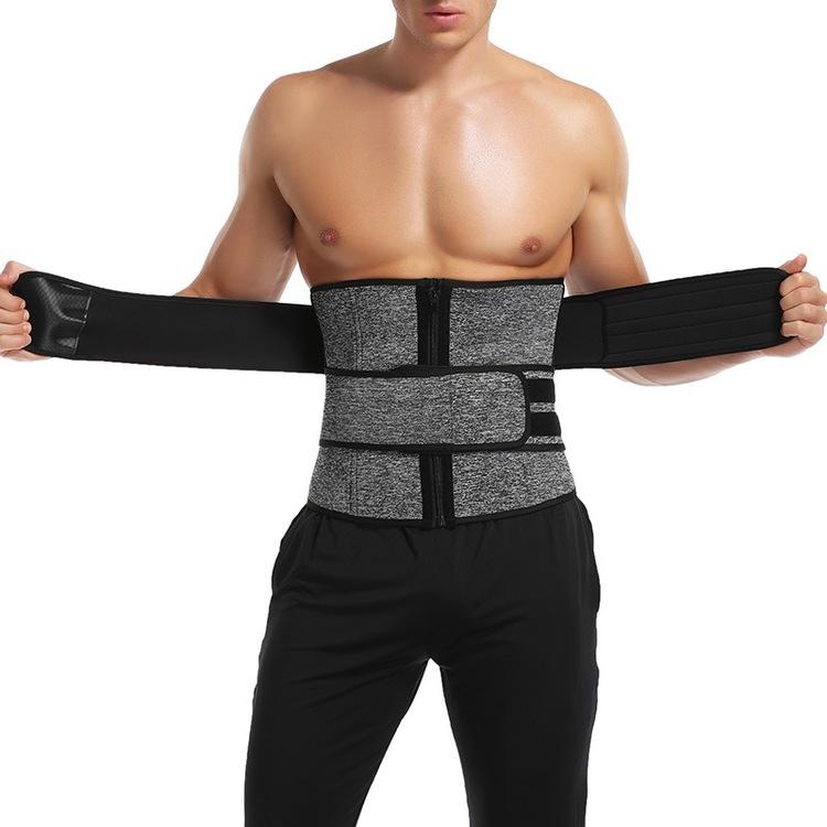 Emory - Unisex Double Velcro Neoprene Sweat Shaperwear 9 steelbones Grey