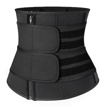 Emory - Unisex Double Velcro Neoprene Sweat Shaperwear 9 steelbones Black