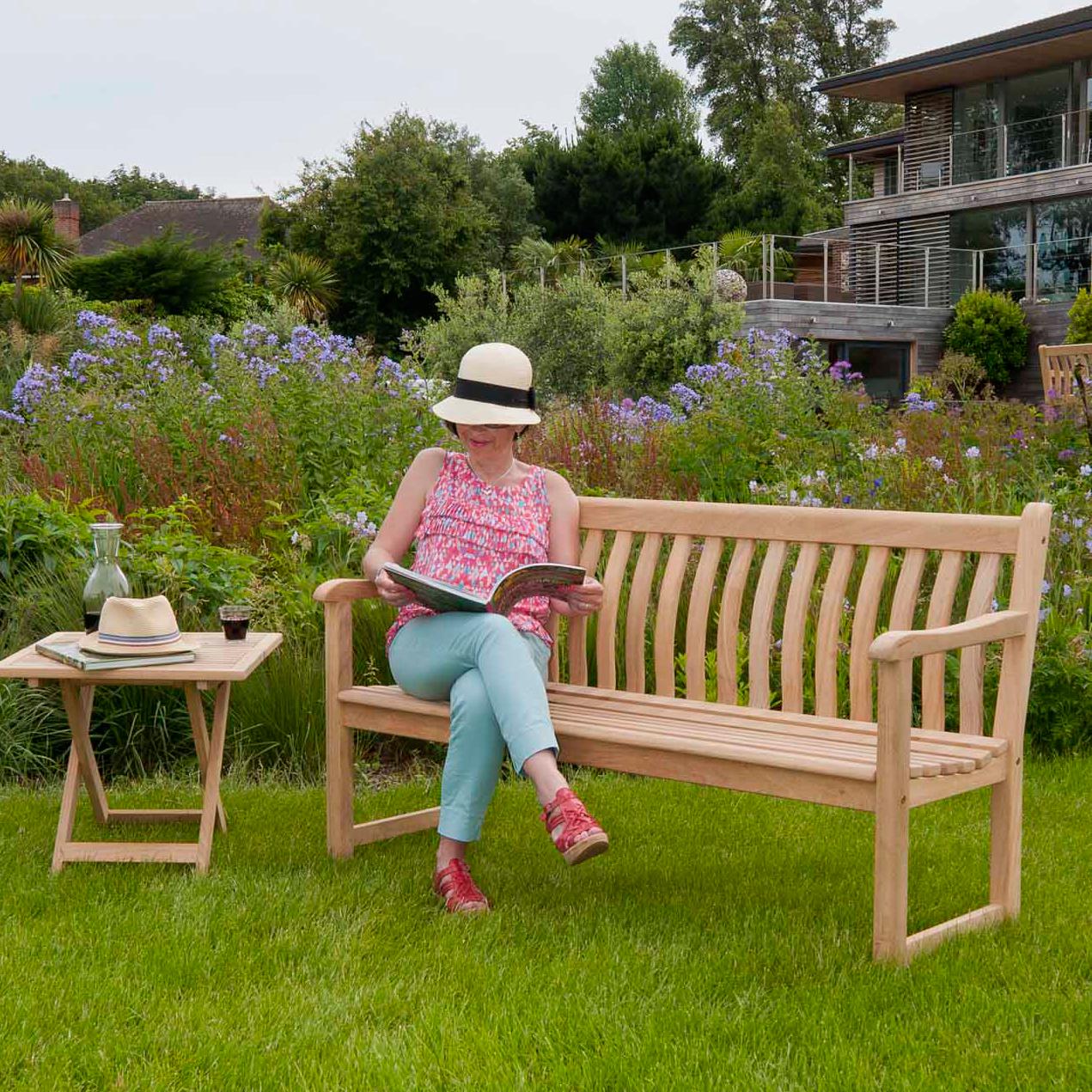 Trädgårdsbänk Broadfield 5ft Roble