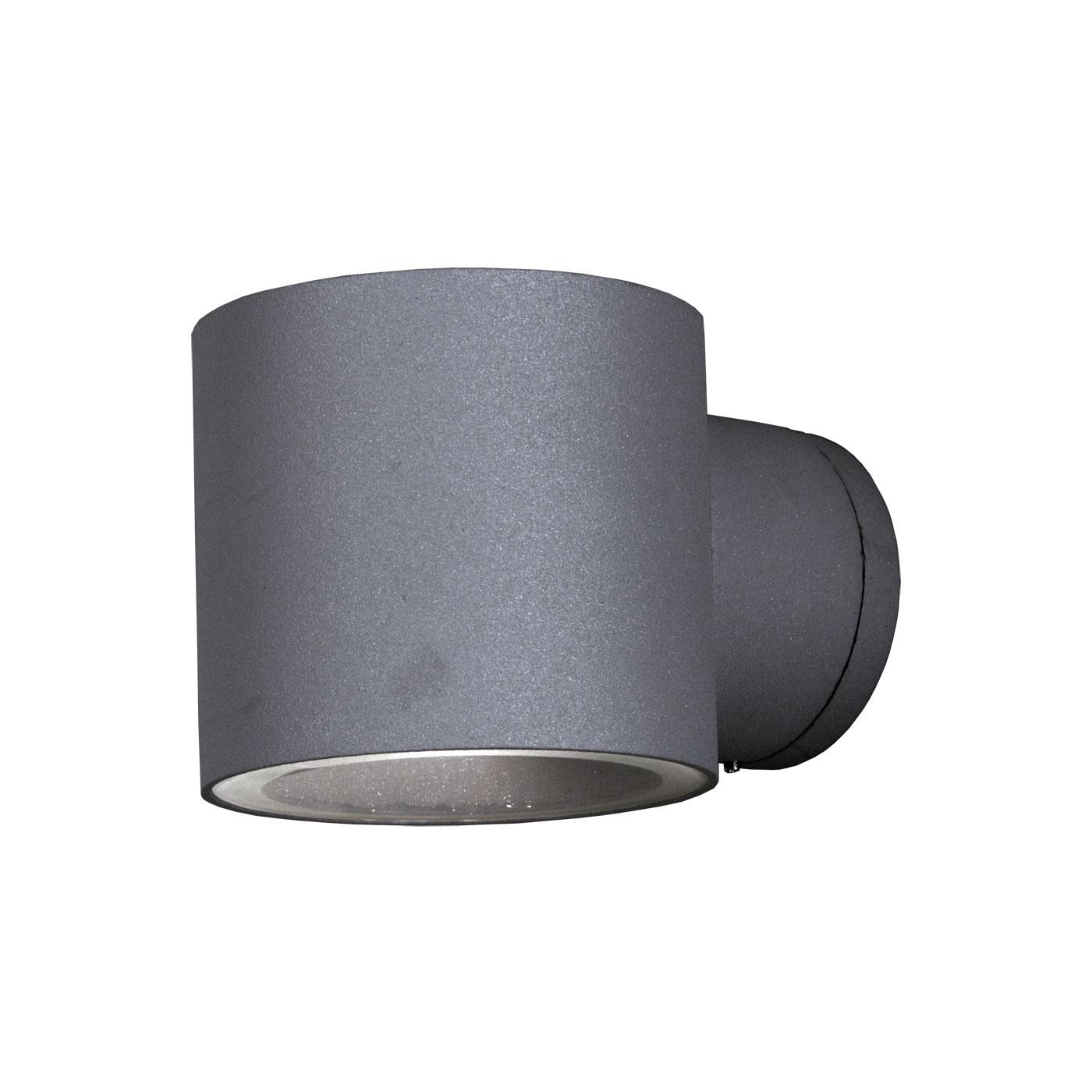 Aneta Ekerum Rund Utelampa Vägg Silvergrå