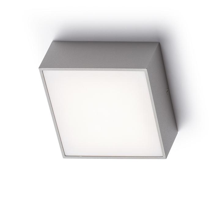 Rendl Bono Silvergrå Utelampa Vägg LED