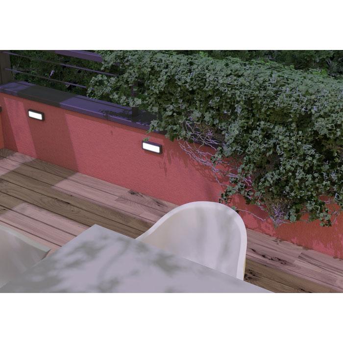 Rendl Reno SQ Direct Antracitgrå Utelampa Vägg LED