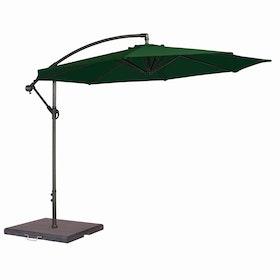 Fribärande Parasoll 3,0m Grön
