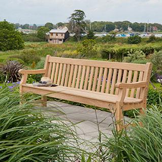Trädgårdsbänk Royal Park 6ft Roble