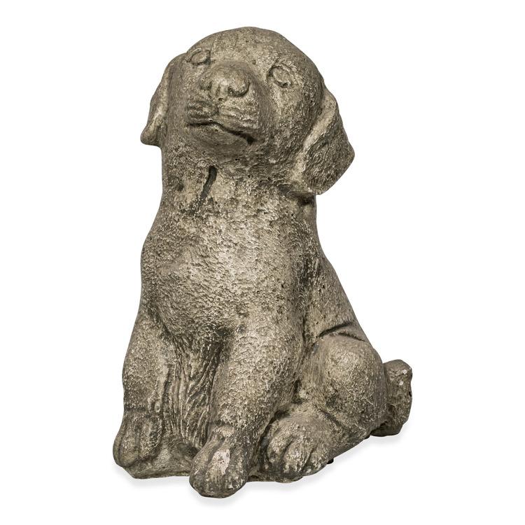 Trädgårdsfigur Sittande Hund