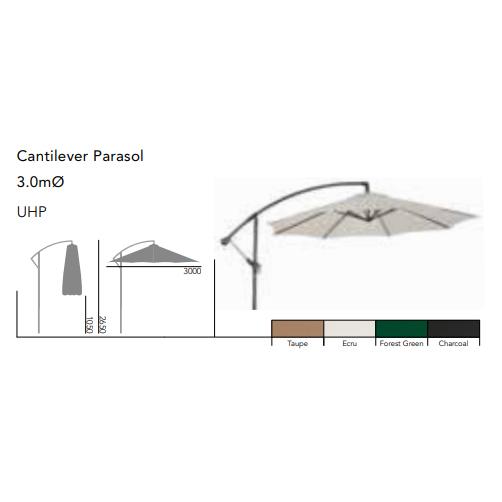 Fribärande Parasoll 3,0m Sand