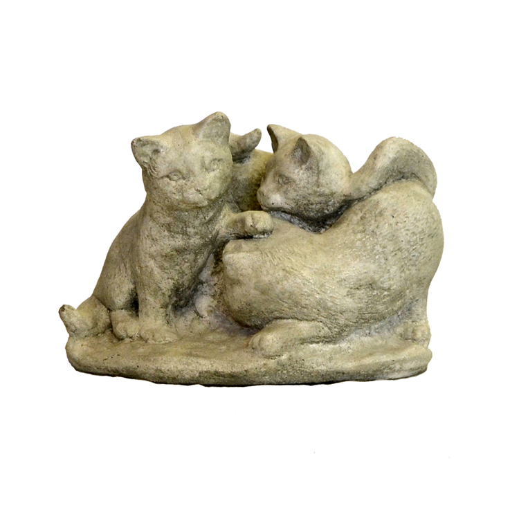 Trädgårdsfigur Lekande katter