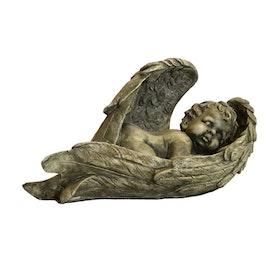 Trädgårdsfigur Liggande Ängel