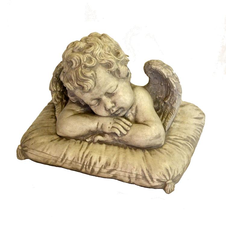 Trädgårdsfigur Ängel på kudde