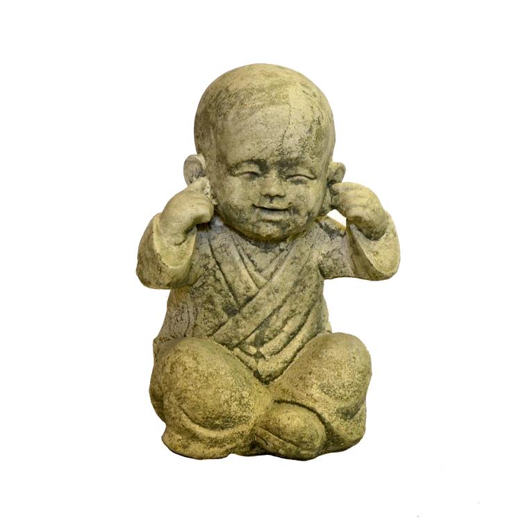 Betongfigur Sittande Budda