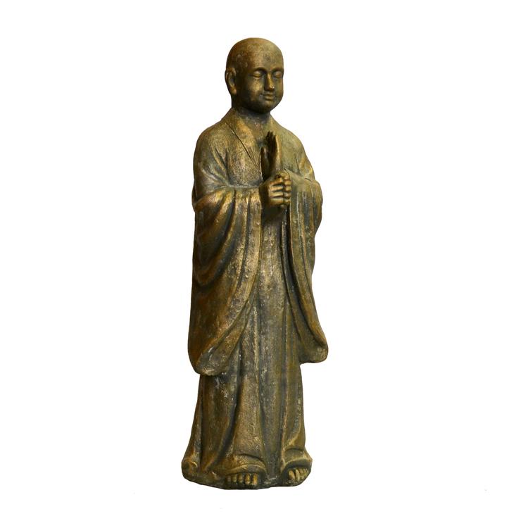 Staty Stående Budda Guld