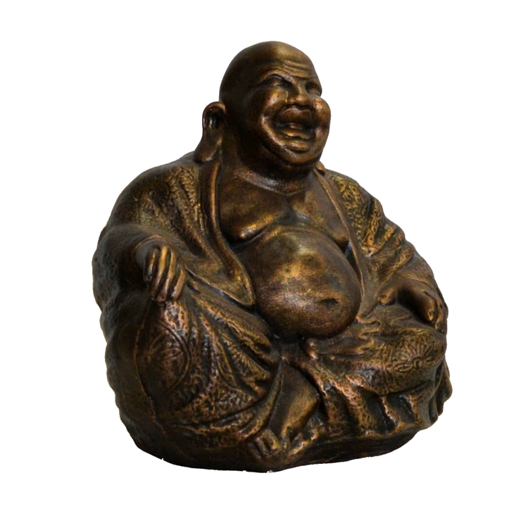 Trädgårdsfigur Sittande Budda Brons