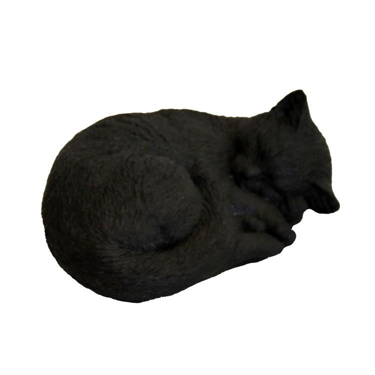 Sovande Katt Svart
