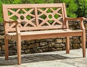 Trädgårdsbänk Heritage 4ft Mahogny