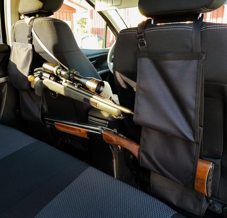 Vapenhållare till bilens ryggstöd