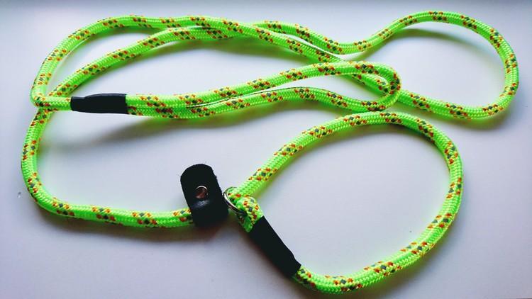 Retrieverkoppel 180cm  Neongrön