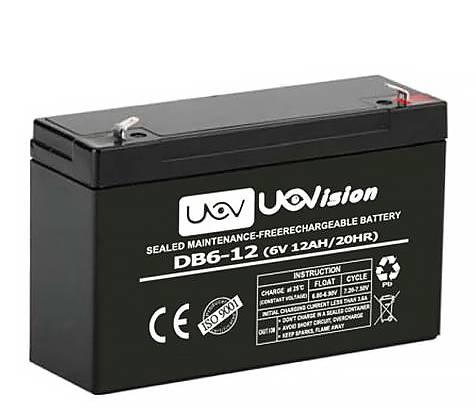 UOVision Externt batteri - 6V / 12AH