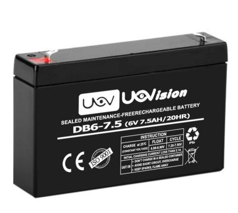 UOVision Externt batteri - 6V / 7,5Ah