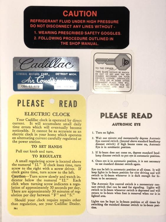 Bagageutrymmet och invändigt komplett set, 1958