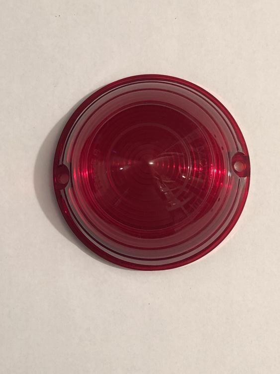 Bakljusglas rött