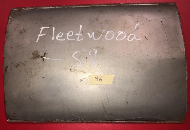 Bakdörrsplåt Fleetwood -59