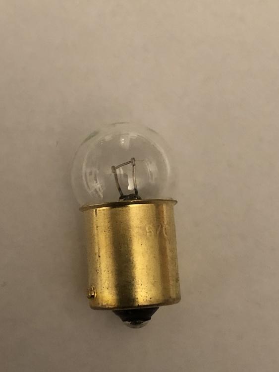 Glödlampa Instrument, kontroll&varningslampa stor glob No.57