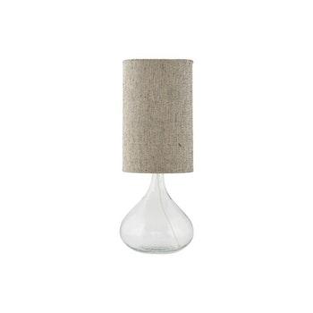 Lampa med glasfot och Grå/brun skärm, House doctor