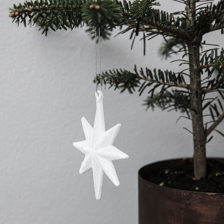 Juldekoration, STAR, med glitter. House doctor