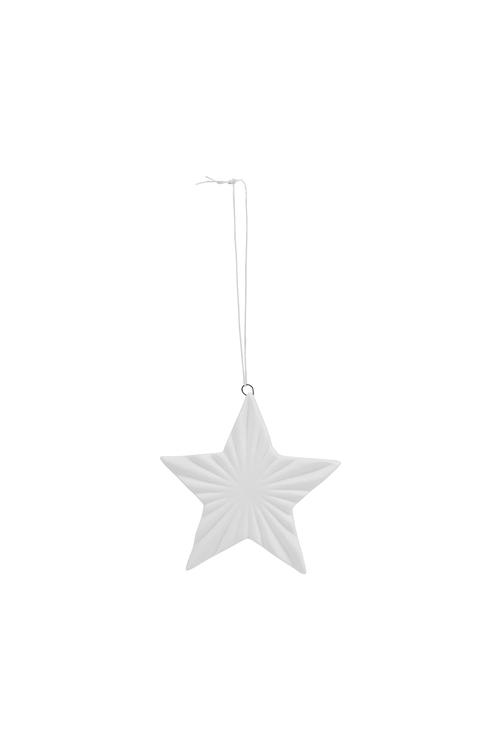 Juldekoration, STAR, vit