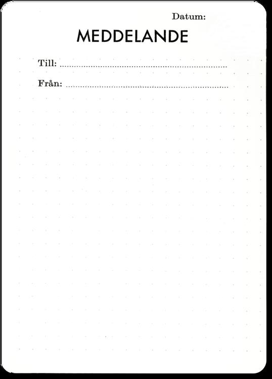 Meddelandekort 10 st