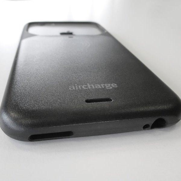 Aircharge iPhone 6 Plus, 6s Plus MFi Qi trådlöst laddningsskal - Svart - nederkant