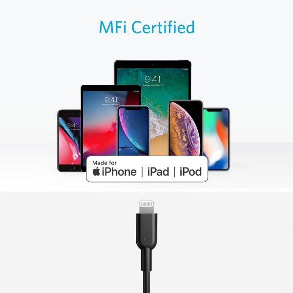Anker PowerLine II Lightning till USB C kabel, 180cm Mobilladdare och powerbanker för alla mobiler