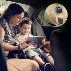 RAVPower mobilladdare för bilen med 2 uttag - fynd