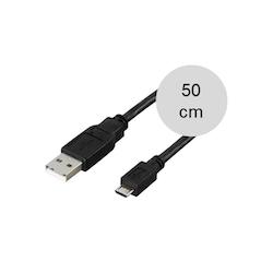 Mikro-USB synk- och laddkabel, 50cm