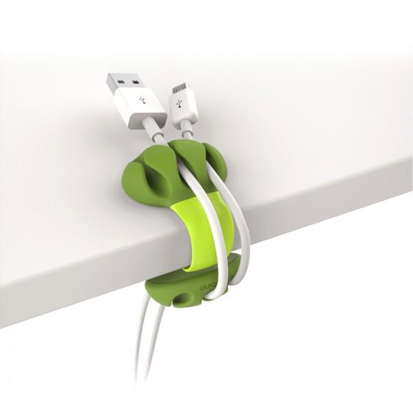Kabelklämma för bordskant - limegrön