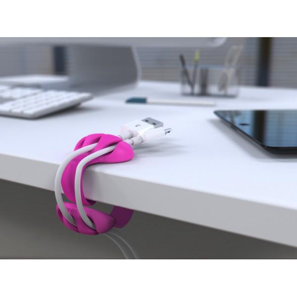 Kabelklämma för bordskant - lila-rosa