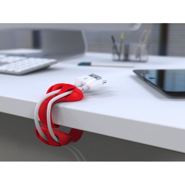 Kabelklämma för bordskant - röd