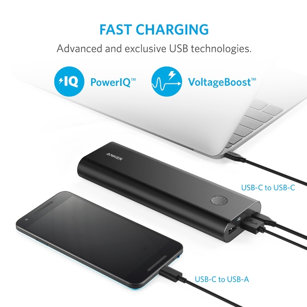 Anker PowerCore+ 20100mAh USB C powerbank Mobilladdare och powerbanker för alla mobiler